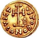 1 tremissis Anonyme / Au nom de Justinien II, 705-711 – revers