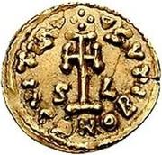 1 tremissis Liutprand & Scauniperge / Au nom de Justinien II, 705-711 – revers