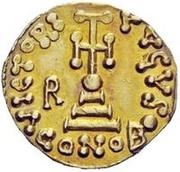 1 solidus Romoald II / Au nom de Justinien II, 705-711 (trois marches) – revers