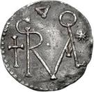 1 denaro Grimoald III – avers