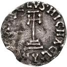 1 denaro Sicon (étoile dans le quadrant inférieur droit) – revers