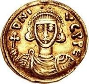 1 solidus Grégoire / Au nom de Justinien II, 705-711 (sans étoile) – avers