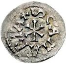 1 denaro Pierre, Évêque régent (monnaie interrégionale) – revers