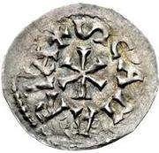 1 denaro Pietro, Évêque régent (monnaie interrégionale) – revers