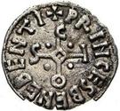 1 denaro Sicon (point dans chaque quadrant) – avers
