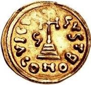 1 solidus Grégoire / Au nom de Justinien II, 705-711 (sans étoile) – revers