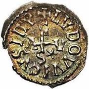 1 denaro Adelchis / Au nom de Ludwig II, 844-875 & Engelberge, 855-875 – avers