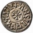 1 denaro Adelchis / Au nom de Ludwig II, 844-875 & Engelberge, 855-875 – revers