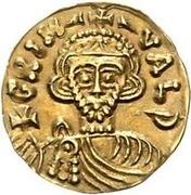 1 tremissis Grimoald III & Charlemagne, Roi des Francs (lettres à gauche et à droite) – avers