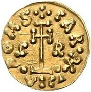 1 tremissis Grimoald III & Charlemagne, Roi des Francs (lettres à gauche et à droite) – revers
