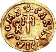 1 tremissis Grimoald III & Charlemagne, Roi des Francs (monogramme à gauche) – revers