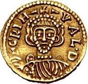 1 tremissis Grimoald III (croix avec cercle près de la base) – avers
