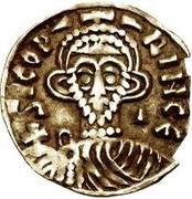 1 tremissis Sicon (lettres régulières; S rétrograde) – avers
