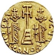 1 solidus Anonyme / Au nom de Constantin IV, 668-685 – revers
