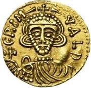 1 tremissis Grimoald III (croix sans cercle près de la base) – avers