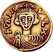 1 solidus Grimoald III & Charlemagne, Roi des Francs – avers