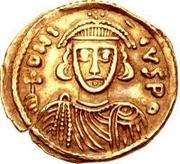 1 solidus Grégoire / Au nom de Justinien II, 705-711 (avec étoile) – avers