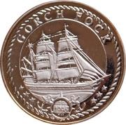 500 Francs CFA - Gorch Fock – revers