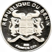 500 francs CFA (Coupe du monde de football France 1998) – avers
