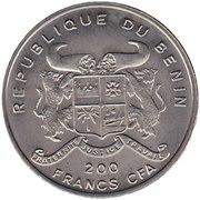200 francs CFA (Acanthopholis) – avers