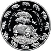 Rhinocéros du Bénin – revers