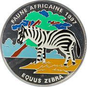 20 000 francs CFA (Zèbre) – revers