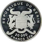 20 000 francs CFA (Zèbre) – avers