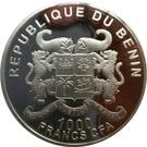 1000 francs CFA Éléphant du Benin – avers