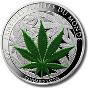 100 francs CFA (Cannabis Sativa) – revers