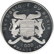 1000 francs CFA (Sauvons le pays) – avers