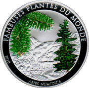 100 Francs ( Abies Numidica) – revers