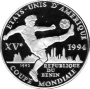 1000 francs CFA (Coupe du monde de football USA 1994) – revers