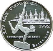 1000 francs CFA (Jeux olympiques Barcelone 1992) – revers
