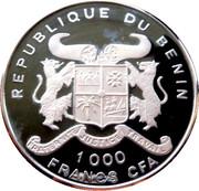 1000 francs CFA (Jeux olympiques Atlanta 1996) – avers