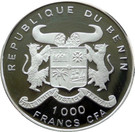 1000 Francs (35 Years of Independence) – avers