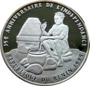 1000 francs CFA (35e anniversaire de l'indépendance) – revers