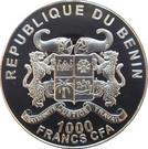 1000 Francs CFA- zèbres d'Afrique – avers