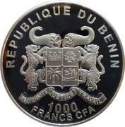 1000 francs CFA Éléphant du Bénin – avers