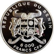 6000 francs CFA (50ème anniversaire des Nations Unies) – avers