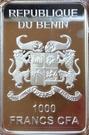 1000 francs CFA (Chevalier russe) – avers