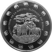1000 francs CFA Éléphant du Bénin – revers