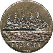 200 francs CFA (Bateau Preussen) – revers