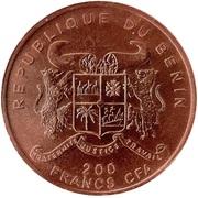 200 francs CFA (Tyrannosaure) – avers