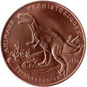 200 francs CFA (Tyrannosaure) – revers