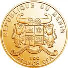 100 francs CFA (Cannabis Sativa) – avers