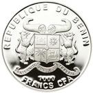 1000 francs CFA Phare de Lindau – avers