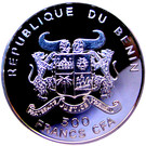 500 francs CFA Année du dragon – avers