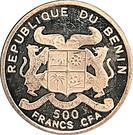 500 Francs CFA (W. A. Mozart) – avers