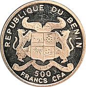 500 Francs CFA (W. A. Mozart) -  avers