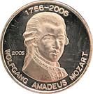 500 Francs CFA (W. A. Mozart) – revers